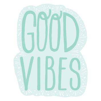 Emma Trithart's Good Vibes Wall Decal