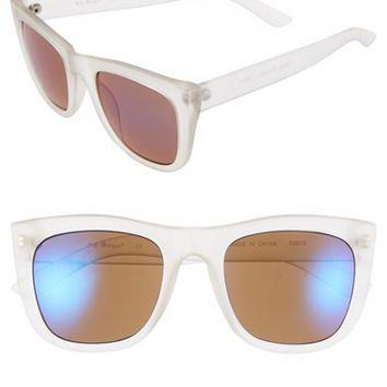Women's A.J. Morgan 'Member' 48mm Sunglasses - Crystal