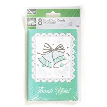 Bridal Shower Thank You Invitations (8 count) Case Pack 36