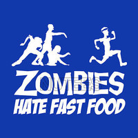 Zombies Hate Fast Food Fitness Gym Funny Comic Mens Ladies T-Shirts S-XXL Size