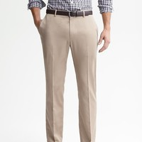 Banana Republic Mens Tailored Slim Non Iron Cotton Pant