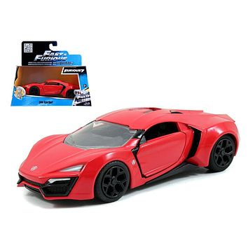 Lykan Hypersport Red \Fast & Furious 7\ Movie 1:32 Diecast Model Car Jada