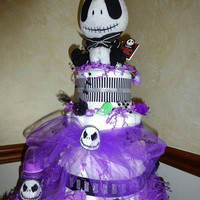 Jack Skellington DIAPER CAKE  Adorable UNiSEX BaBY SHoWER Centerpiece GRoUP GiFT UNiQUE Designs by Sugarbear
