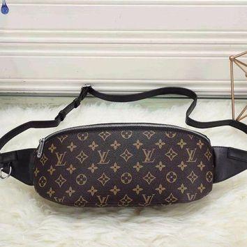 PEAPV9O LV Louis Vuitton Women's Stylish Hipster Leather Tote Bag F Coffee
