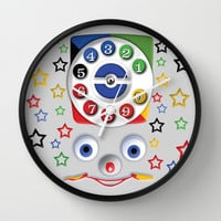 Retro Vintage kids Toys Dial Phone Decorative Circle Wall Clock Watch by Three Second