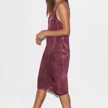 Kendall and Kylie Zip Back Silky Slip Dress at PacSun.com