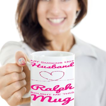 Husband Mug Personalized Holiday V Day Gift For Him Cocoa Cookie Cup & Pencil Holder