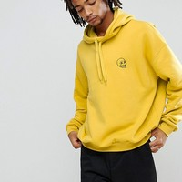 Cheap Monday Goal Hoodie in Yellow at asos.com