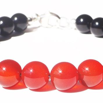 Mens SELF-CONFIDENCE & CREATIVITY Sacral Chakra Bracelet w/ Orange Carnelian