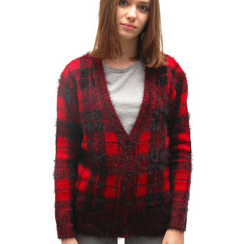 Check Me Out Cardigan - Black / Red