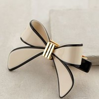 Vintage Bow Barrette by France Luxe Black & White One Size Hair