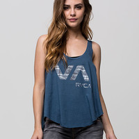 Rvca Seaward Va Womens Tank Blue  In Sizes