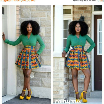 LABOUR DAY SALE Tracy African print summer skirt.