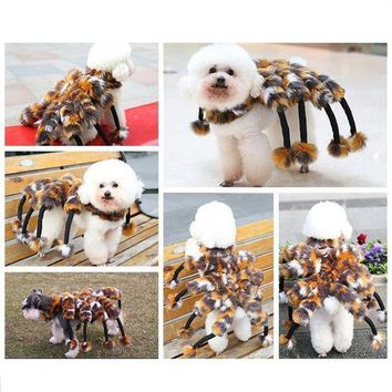 CREY6F Petalk Winter Novelty Spider Cat Dog Costumes Halloween  Pet Dog Suits For Teddy Chihuahua Yorksire S M L