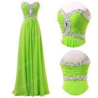 Plus Size Beaded Corset Long Prom Dresses Homecoming Evening Party Formal Dress