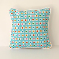 Modern floral cushion (includes cushion pad)