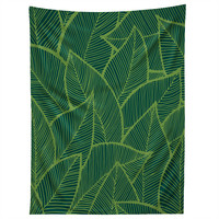 Arcturus Lime Green Leaves Tapestry