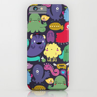 Colorful creatures iPhone & iPod Case by Maria Jose Da Luz