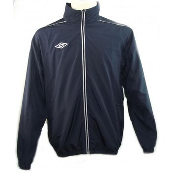 Umbro Mens Adults Warm Up Football Club Soccer Quality Track Zip Jacket Sz L