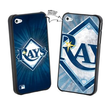 Major League Baseball-Iphone 5 MLB Tampa Bay Rays Large Logo Lenticular Case