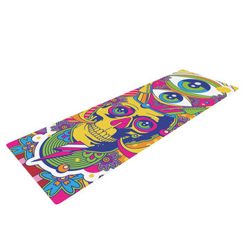 "Roberlan ""Skull"" Rainbow Illustration Yoga Mat"