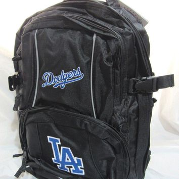 MLB NWT EMBROIDERED ADULT 3 COMPARTMENT BACKPACK - LOS ANGELES DODGERS