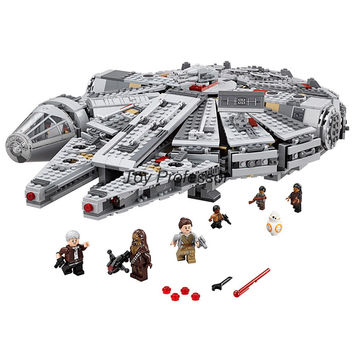 Lepin Star Wars Millennium Falcon Outer Space Space Ship Building Blocks Model Toys Christmas Gift for Children Legoed