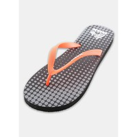 RBX Women's Squares Printed Footbed Flip Flop Coral/Black Size 8
