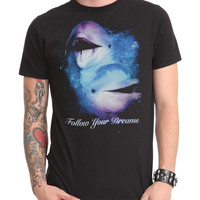 Follow Your Dreams Dolphins Slim-Fit T-Shirt