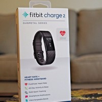 Fitbit Charge 2 Special Edition Gunmetal Series, Size S Black Band
