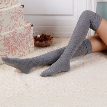 Long leg warmers for boots Women Ladies Winter Knit Ankle Warmers