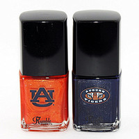 Rumble Cosmetics Auburn University Tigers Paw Prints Nail Polish Duo