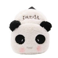 New Cute Small Schoolbags for Little Girls Velvet Panda Design School Backpack for Kindergarten Kids Small Bags