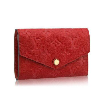 DCCK1 Louis Vuitton Monogram Empreinte Compact Curieuse Wallets Article: M60735 Cherry