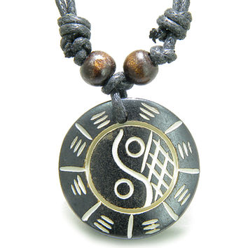 Amulet Original Tibetan Yin Yang BA GUA Balance Powers  Magic Pendant Necklace