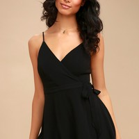 Camden Black Wrap Skort Dress