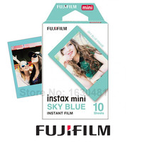 Genuine New Fujifilm Instax Mini Sky Blue Film 10 Sheets for Mini 8 70 90 Neo 25 50s 300 Camera Share SP-1 SP-2 Printer Polaroid