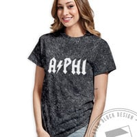 Alpha Phi - ACDC Vintage Tee - Order now to help us reach our goal!