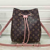 Louis Vuitton LV Women Fashion Leather Bucket Bag Satchel Shoulder Bag