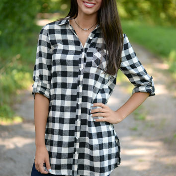 Simply Sure Plaid Tunic Top