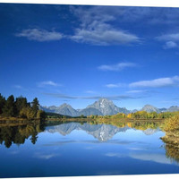 Mt Moran Reflected in Oxbow Bend