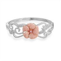 Bling Jewelry Pink Rose Bangle