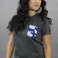 Fully Laced The Fully Laced Island Life Womens Pocket TeeCharcoalBlue : Karmaloop.com - Global Concrete Culture