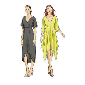 VOGUE DRESS PATTERN Handkerchief Dress Pattern or Casual Dress Very Easy Vogue 8894 Womens Sewing Patterns Size 4 6 8 10 12 14 16 UNCuT