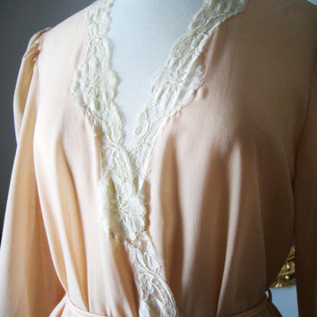 Vintage 1970's Christian Dior Dressing Gown Vintage by cutandchic