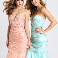 Madison James 16-328 Scallop Beaded Mermaid Prom Dress