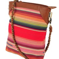 Multi-Striped N/S Shoulder Bag | HERITAGE 1981 - 1000026633