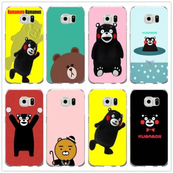 Cute Cartoon Kumamon We Bare Bear For Samsung Galaxy Note 2 3 4 5 8 S3 S4 S5 Mini S6 S7 S8 S9 Edge Plus Shell Soft Phone Cases