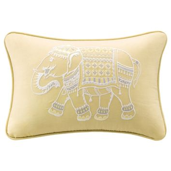Ink+Ivy Zahira Embroidered Oblong Cotton Pillow | Overstock.com Shopping - The Best Deals on Throw Pillows