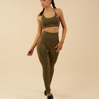 Gymshark Seamless Energy High Waisted Leggings - Khaki